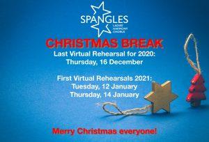 SPANGLES CHRISTMAS BREAK